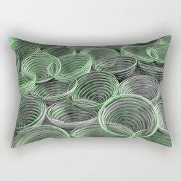 Black, white and green spiraled coils Rectangular Pillow