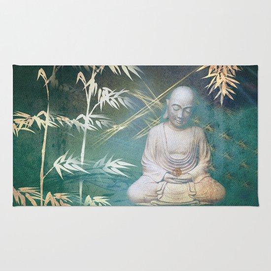 Buddha's awakening from deep meditation Rug