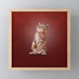 Funny kitten Framed Mini Art Print