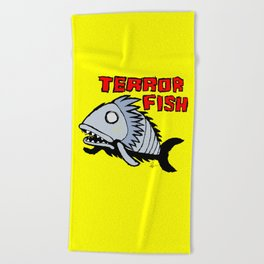 Terror fish Beach Towel