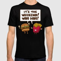 The Weekend Burger Mens Fitted Tee Black MEDIUM