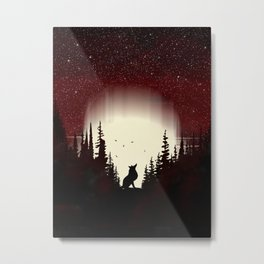 Red Forest Fox Metal Print