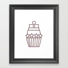 Cupcake Star Framed Art Print