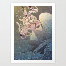 Euryale, The Ghost Of The Brine Art Print