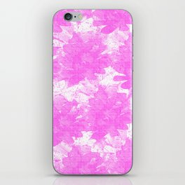 Distorted Floral  iPhone Skin