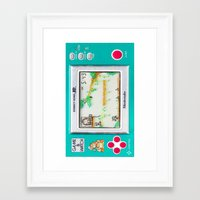donkey kong Framed Art Prints featuring DONKEY KONG RETRO GAME by BESTIPHONE5CASESHOP