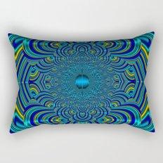 Silk Mandala II - Peace Aquamarine Rectangular Pillow