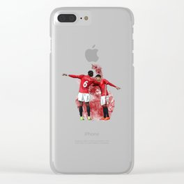 Pogba and Lingard Clear iPhone Case