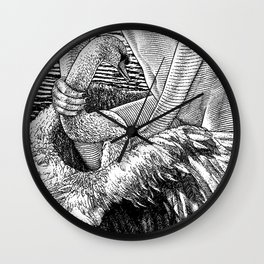 asc 677 - Les ailes du désir (The swain in disguise) Wall Clock