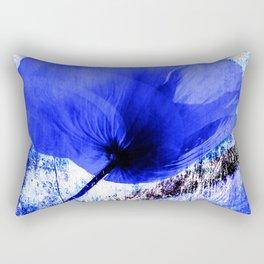 Blue Poppy vintage 222 Rectangular Pillow