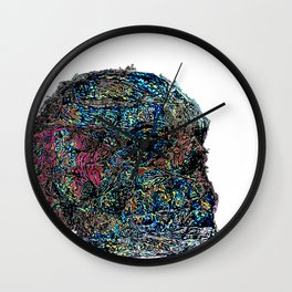Psychedelic Skull Abstraction Wall Clock