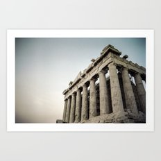 Faded Memories: Parthenon Art Print