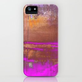 Pink Color Patches iPhone Case