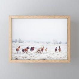 Winter Horses Framed Mini Art Print