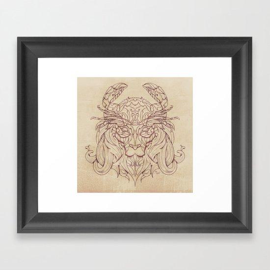 Lion Crab Framed Art Print