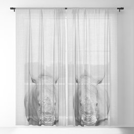 Rhino 2 - Black & White Sheer Curtain