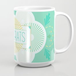 Geometric Congrats Mug