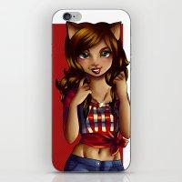 jessica lange iPhone & iPod Skins featuring Jessica by JupiterBlossem