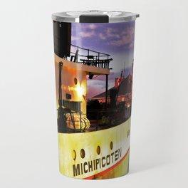 Sunset Freighter Travel Mug