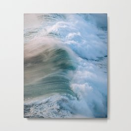 Crashing Wave in the evening Light Metal Print