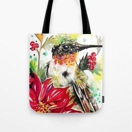 Christmas hummingbird 1 Tote Bag