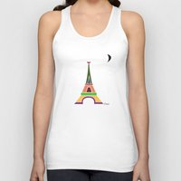 eiffel tower Tank Tops featuring Eiffel Tower by Losal Jsk