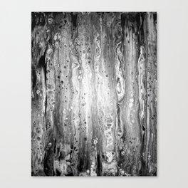 Print Series - Textured Black and White Birch Canvas Print