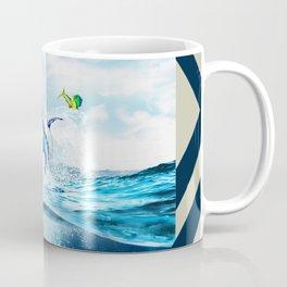 Blue Marlin Jumping After Mahi-Mahi (dolphin fish) Coffee Mug