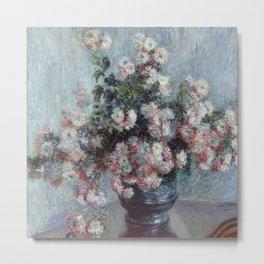 Chrysanthemums - Claude Monet Metal Print