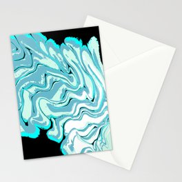 Ripples on a Black Background Stationery Cards
