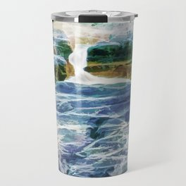 Abstract rock pool in the rough rocks Travel Mug