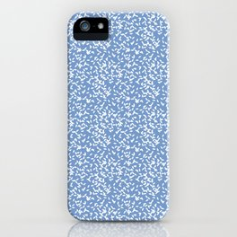 Leaves on blue background iPhone Case