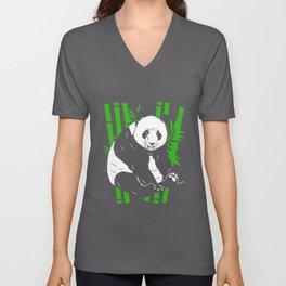 Panda Bamboo Cute Panda Bear Mountain China Unisex V-Neck