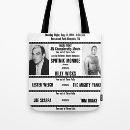#12 Memphis Wrestling Window Card Tote Bag