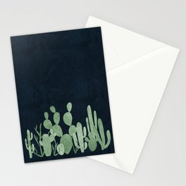 Green cactus garden Stationery Cards