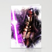 darth Stationery Cards featuring Darth Revan by Vincent Vernacatola