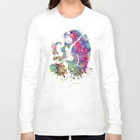 beauty and the beast Long Sleeve T-shirts featuring Beauty and the Beast by Bitter Moon