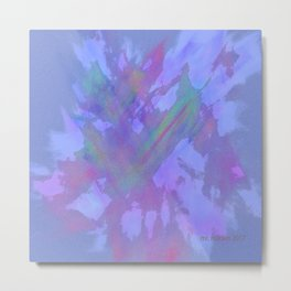 Original Abstract Duvet Covers by Mackin signed Metal Print