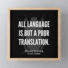 11 |  Franz Kafka Quotes | 190517 Framed Mini Art Print