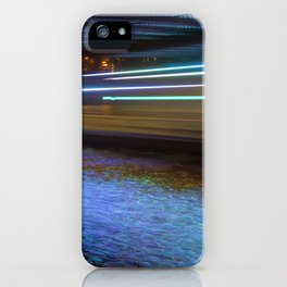 Into the Berlin Blue Night iPhone Case