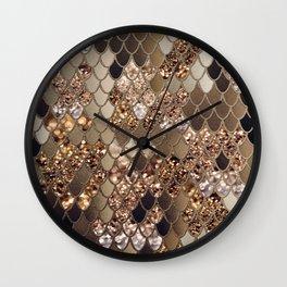 Mermaid Glitter Scales #6 #shiny #decor #art #society6 Wall Clock