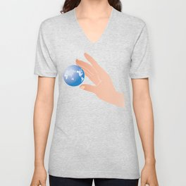 save the earth Unisex V-Neck