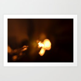 Candle lights Art Print
