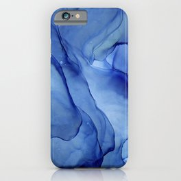 Blue Ultramarine Ink Painting iPhone Case