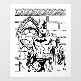 Nocturnal  / A Crime-Fighting Detective by Peter Melonas Art Print