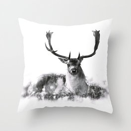 Majestic Stag Throw Pillow