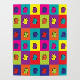 Maneki Neko Kitty Cat Pop Art Poster