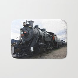 Vintage Railroad Steam Train Bath Mat