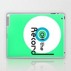 Off the Record - white Laptop & iPad Skin