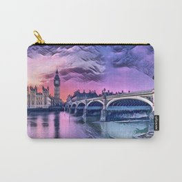 Big Ben with Sunset (London, England) Carry-All Pouch